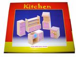 Pink Dolls house kitchen set
